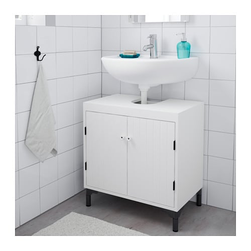 SILVERÅN Wash-basin base cabinet w 2 doors   A good solution if you are short of space.