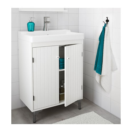 SILVERÅN Wash-basin cabinet with 2 doors   A good solution if you are short of space.
