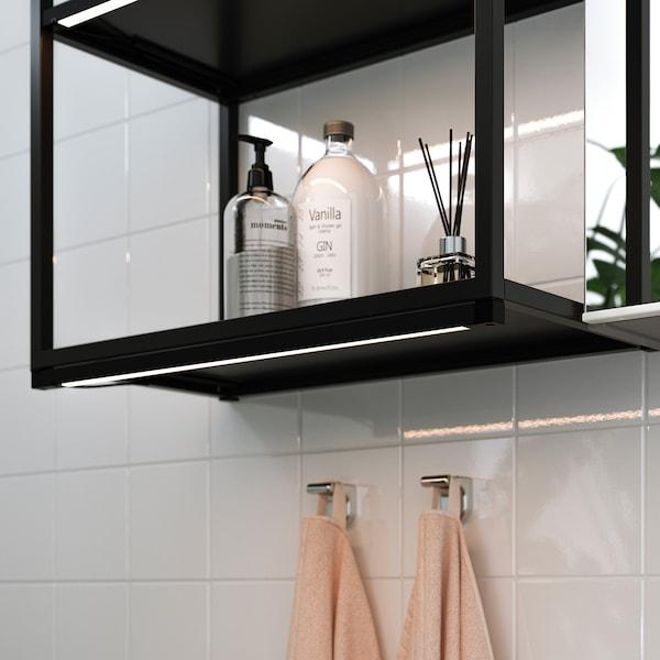 SILVERGLANS LED bathroom lighting strip, dimmable anthracite, 60 cm
