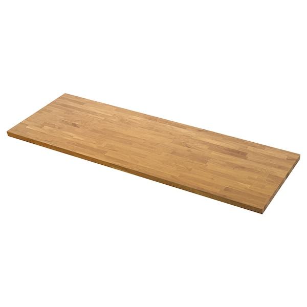 SKOGARP custom made worktop oak/solid wood 100 cm 10 cm 400 cm 63.6 cm 125 cm 4.0 cm