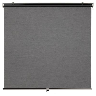 SKOGSKLÖVER Roller blind, grey, 80x195 cm