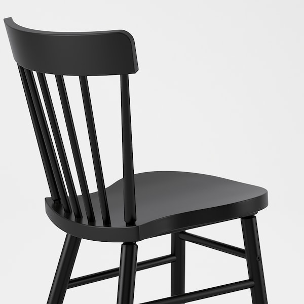 SKOGSTA / NORRARYD Table and 6 chairs, acacia/black, 235x100 cm