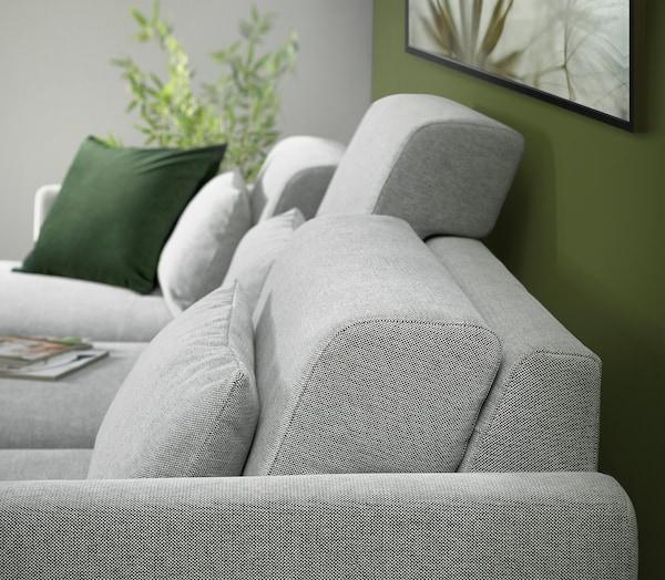 SLATORP 3-seat sofa, with chaise longue, left/Tallmyra white/black