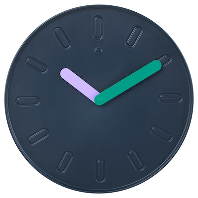 SLIPSTEN Wall clock, dark blue, 35 cm