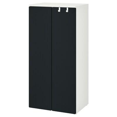 SMÅSTAD Wardrobe, white/blackboard surface, 60x42x123 cm