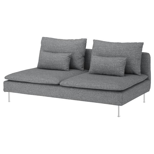SÖDERHAMN 3-seat section, Lejde grey/black