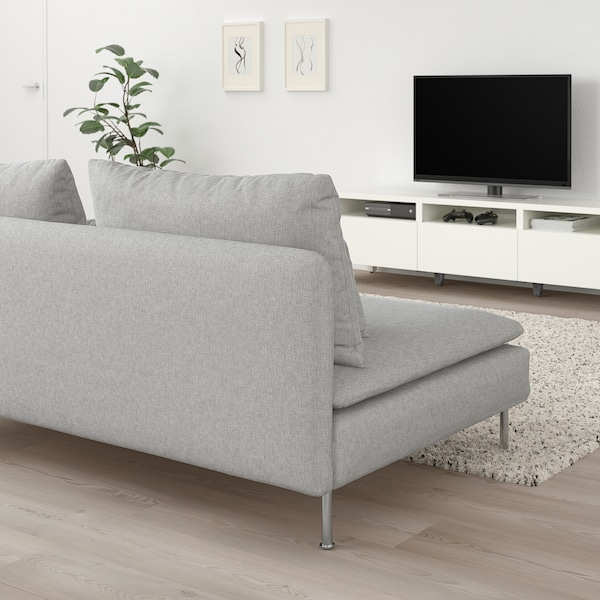 SÖDERHAMN 3-seat section, Tallmyra white/black