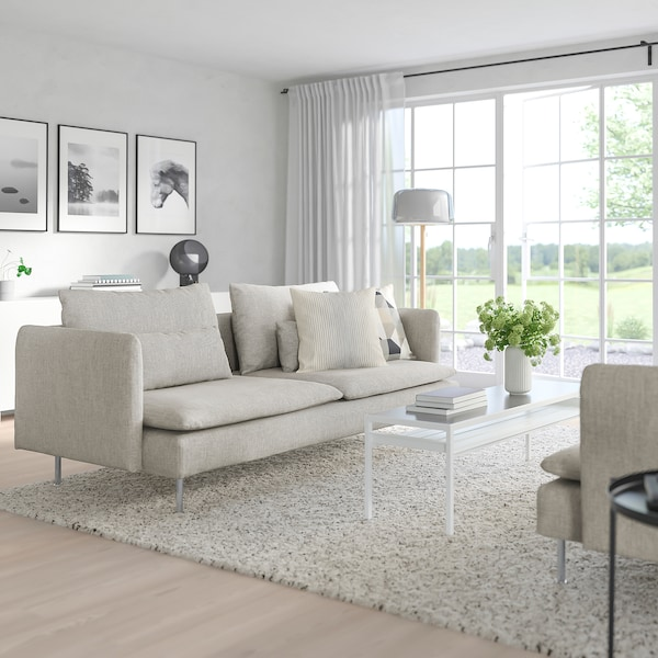 SÖDERHAMN 3-seat sofa, Viarp beige/brown