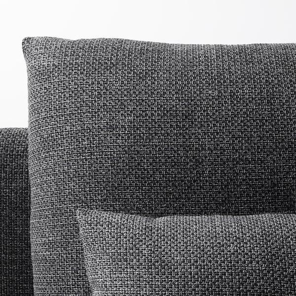 SÖDERHAMN Chaise longue, Lejde grey/black