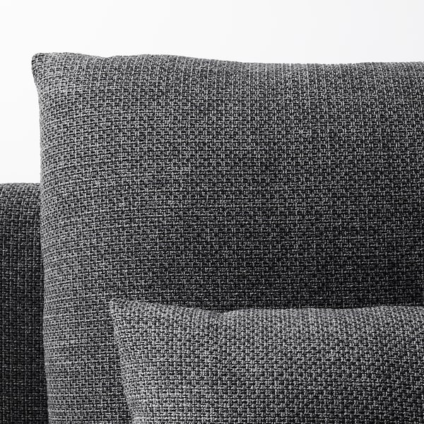 SÖDERHAMN Corner sofa, 3-seat, Lejde grey/black