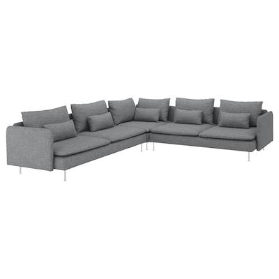 SÖDERHAMN corner sofa, 6-seat Lejde grey/black 83 cm 69 cm 99 cm 291 cm 291 cm 14 cm 70 cm 39 cm