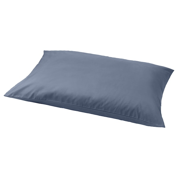 SÖMNTUTA Pillowcase, blue-grey, 65x100 cm
