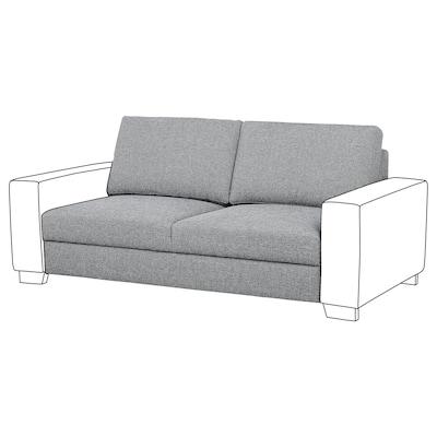 SÖRVALLEN 2-seat section, Lejde grey/black