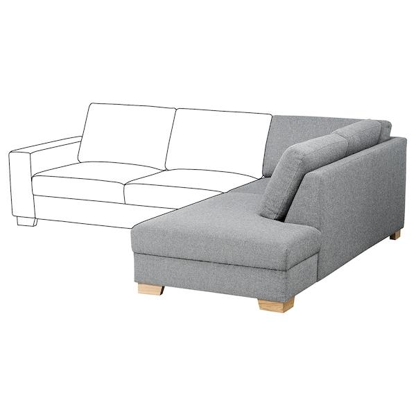 SÖRVALLEN corner section right Lejde grey/black 102 cm 232 cm 88 cm 61 cm 192 cm 45 cm