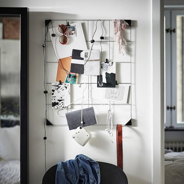 SÖSDALA Memo board with clips, black, 60x75 cm