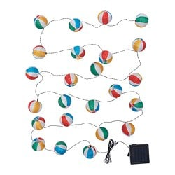 SOLVINDEN LED lighting chain with 24 lights, outdoor, solar-powered multicolour