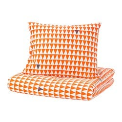 STILLSAMT quilt cover and pillowcase, light orange