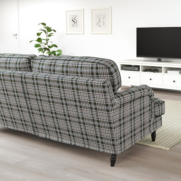 STOCKSUND 3-seat sofa, Segersta multicolour/black/wood