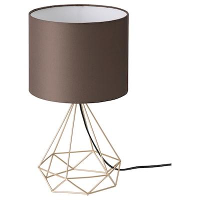 STOFTFRI Table lamp, brass-plated/brown, 40 cm