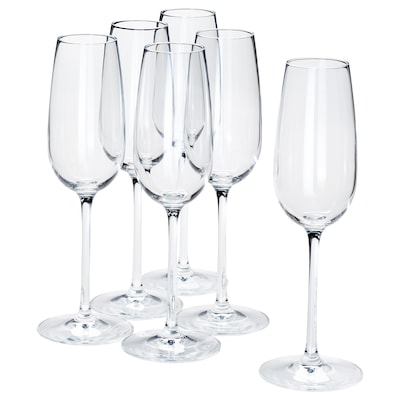 STORSINT Champagne glass, clear glass, 22 cl