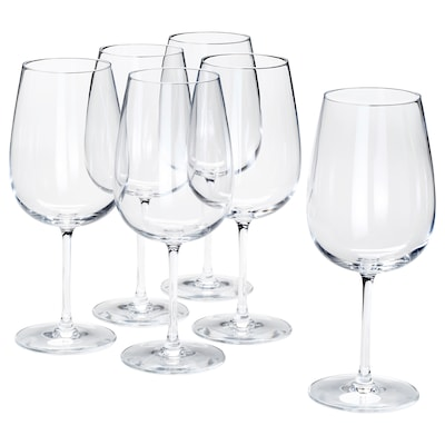 STORSINT Red wine glass, clear glass, 68 cl