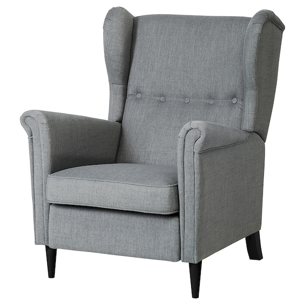 Surprising Recliner Strandmon Nordvalla Dark Grey Creativecarmelina Interior Chair Design Creativecarmelinacom