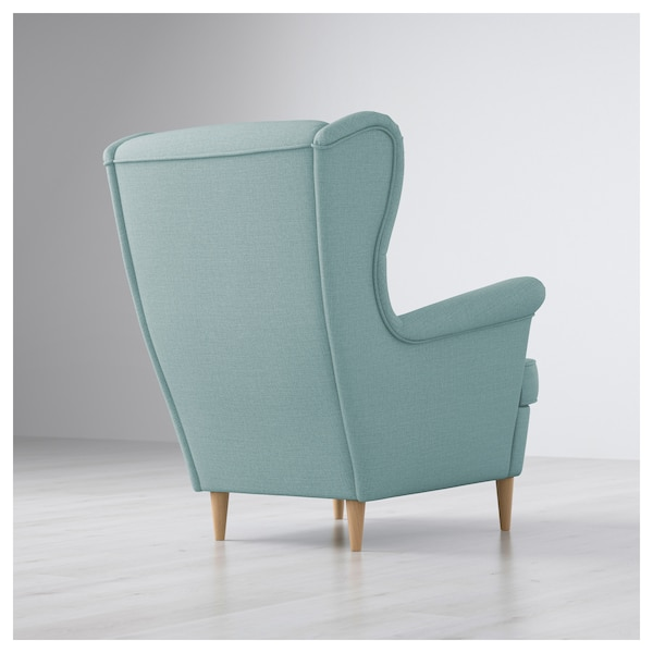 STRANDMON Wing chair - Skiftebo light turquoise - IKEA ...