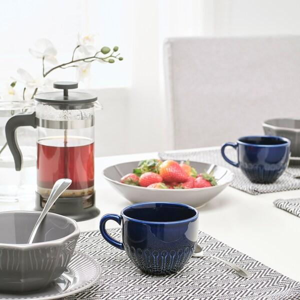 STRIMMIG mug stoneware blue 8 cm 36 cl