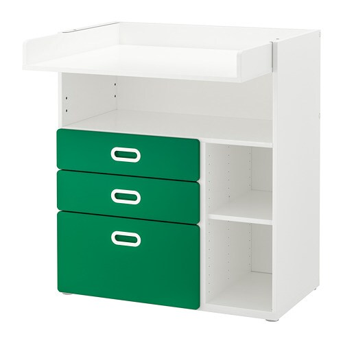 baa93e565247 STUVA / FRITIDS Changing table with drawers - white/green - IKEA