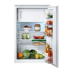 SVALKAS Integrated fridge w freezer compart