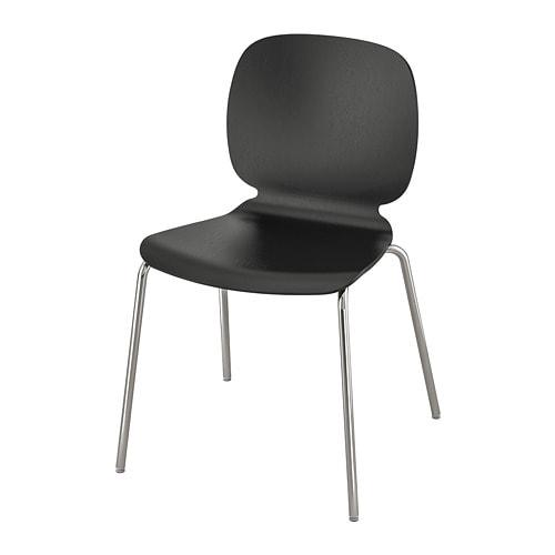 Svenbertil Chair Black Broringe Chrome Plated