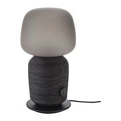 SYMFONISK table lamp with WiFi speaker, black
