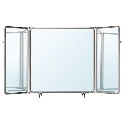 SYNNERBY Tri-fold mirror, grey, 90x48 cm