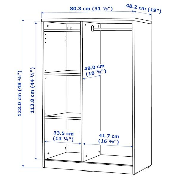 SYVDE Open wardrobe, white, 80x123 cm