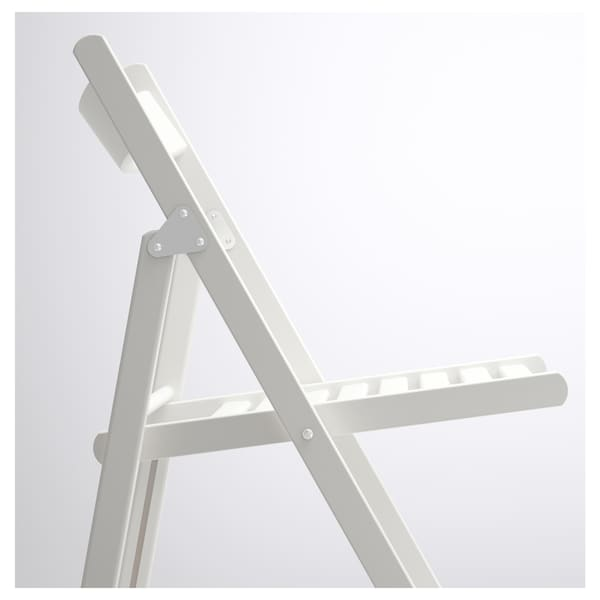 TERJE folding chair white 100 kg 44 cm 51 cm 77 cm 38 cm 33 cm 46 cm