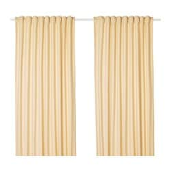 TIBAST curtains, 1 pair, yellow