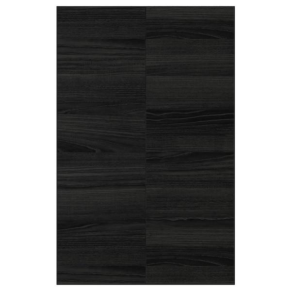 TINGSRYD 2-p door f corner base cabinet set wood effect black 25.4 cm 80.0 cm 25.0 cm 79.7 cm 1.6 cm