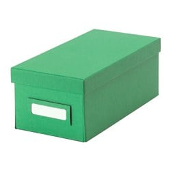 TJENA box with lid, green