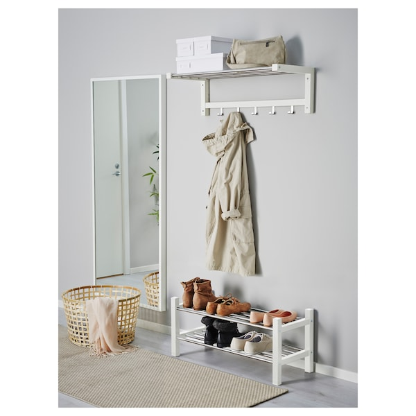 TJUSIG Shoe rack, white, 79 cm