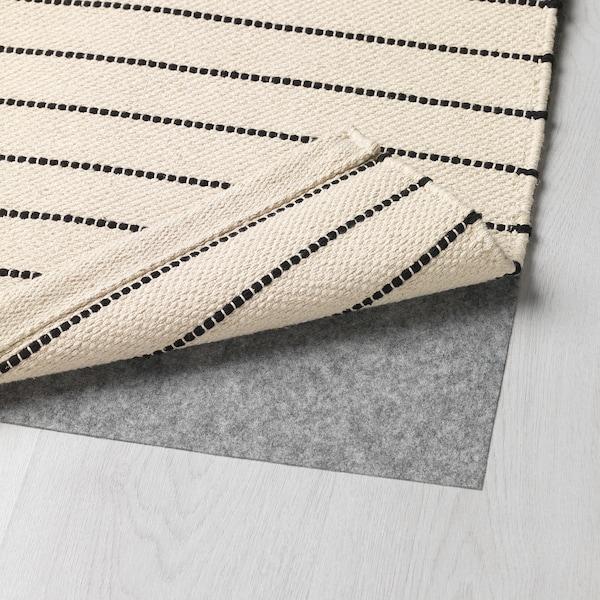 TÖRSLEV rug, flatwoven black/white 90 cm 60 cm 5 mm 0.54 m² 2000 g/m²