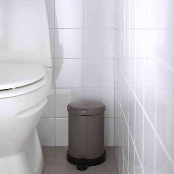 TOFTAN Waste bin, grey, 4 l