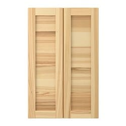 TORHAMN 2-p door f corner base cabinet set, natural ash