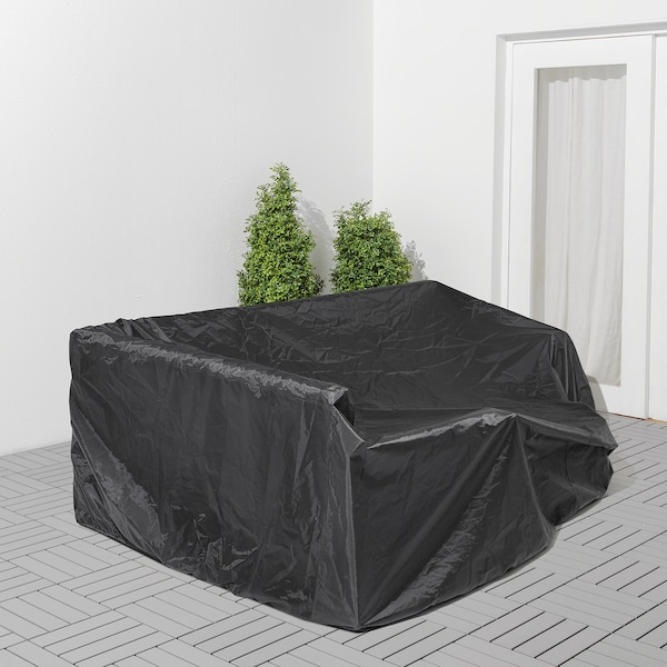 TOSTERÖ Cover for outdoor furniture, sofa/black, 260x165 cm