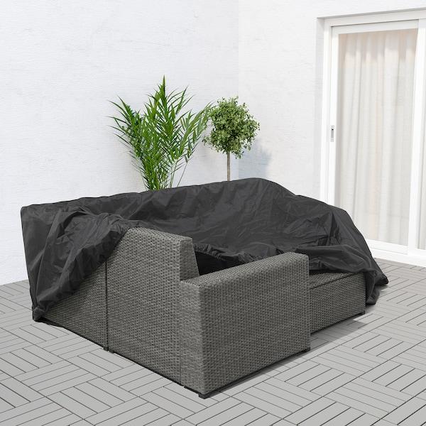 TOSTERÖ cover for outdoor furniture sofa/black 260 cm 165 cm 85 cm