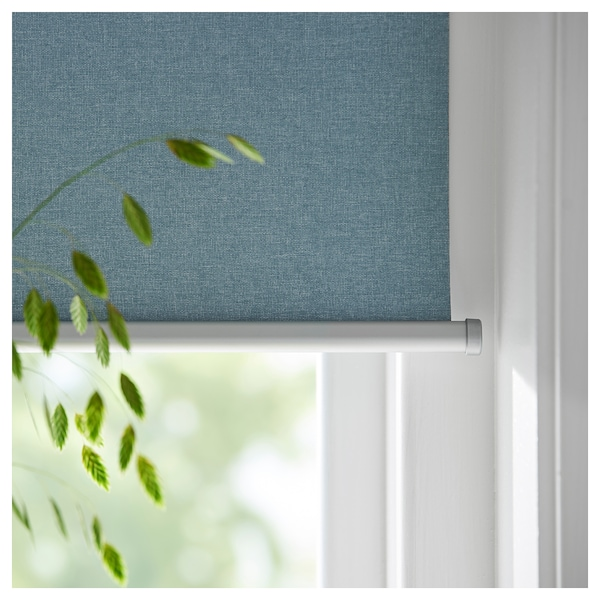 TRETUR block-out roller blind light blue 120 cm 123.4 cm 195 cm 2.34 m²