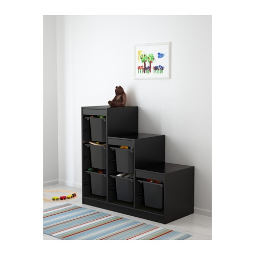 Trofast Opbergkast Ikea.Trofast Storage Combination With Boxes Black Pink Ikea