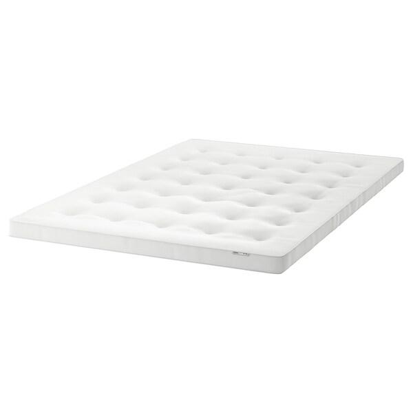 TUSTNA Mattress pad, white, 140x200 cm