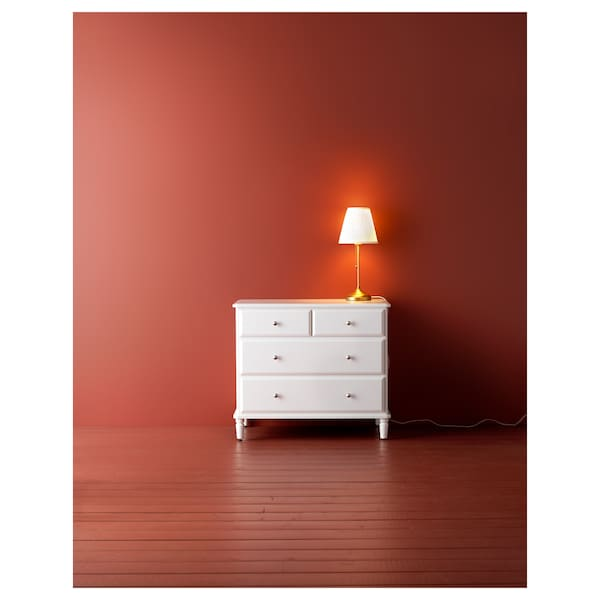 TYSSEDAL chest of 4 drawers white 87 cm 54 cm 76 cm 73 cm 44 cm 11 kg