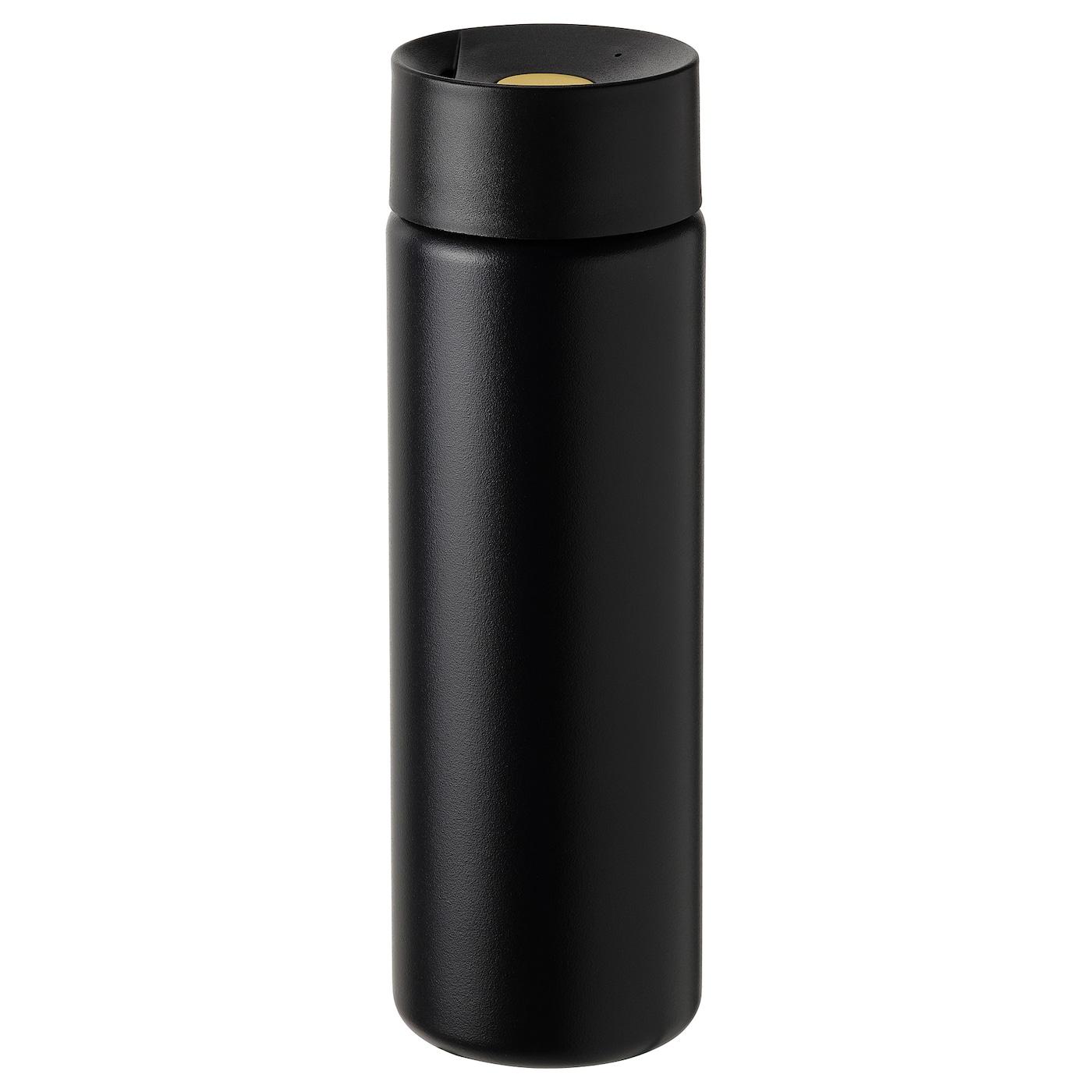 UNDERSÖKA Insulated travel mug - black 0.4 l