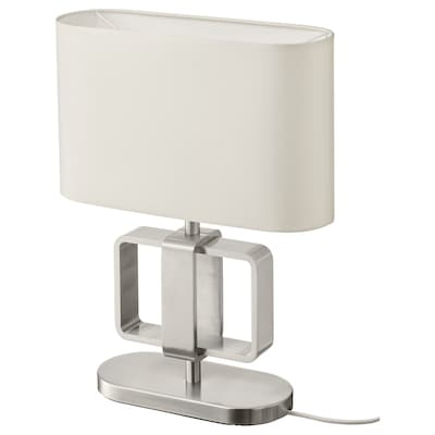 UPPVIND Table lamp, nickel-plated/white, 47 cm